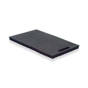 12 inch black portable kneeling pad with handle