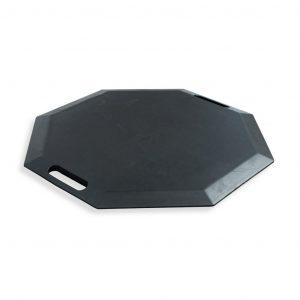 SmartCells octagonal black mat in a diagonal view