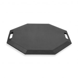 SmartCells black octagonal mat in a front low view