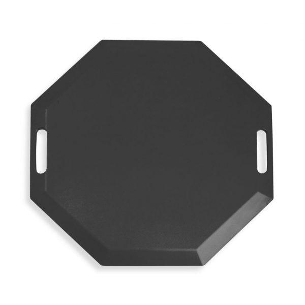 SmartCells black octagonal mat in a top view