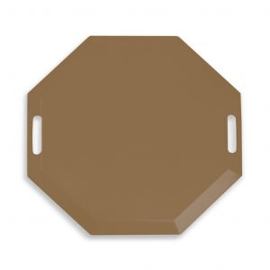 SmartCells brown octagonal mat in a top view